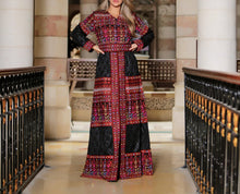 El-General Thobe Embroidered Palestinian Maxi Dress Long Sleeves Kaftan Palestinian Design And Embroidery