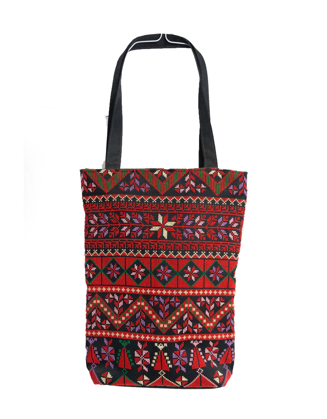 Hand embroidered shopper bag with DMC threads