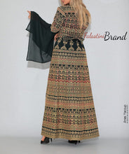 Version 5 Green Palestinian Queen Thobe Embroidered Dress Long Sleeve Palestinian Design And Embroidery