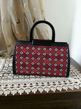 Black embroidered handbag - Falastini Brand