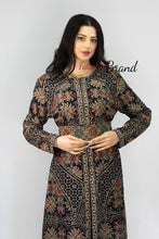 Stylish 2 Pieces Navy Palestinian Embroidered Thobe Dress