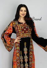 Amazing Full Details Palestinian Black Embroidered Dress