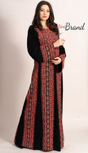 Amazing Embroidered Palestinian Thobe Dress Long Sleeve