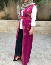 Amazing Pink Long Embroidered Palestinian Vest