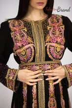 Amazing Royal Full Of Details Rose Gold Embroidered Dress Kaftan Gown