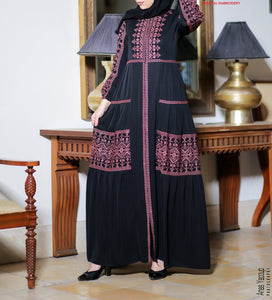 Several Colors Charming Palestinian Embroidered Abaya