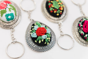 Keychains with Brazilian print embroidery - Falastini Brand