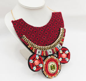 Embroidered collar necklace - Falastini Brand