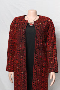 Two third embroidered jacket full sleeves with stylish Palestinian red embroidery