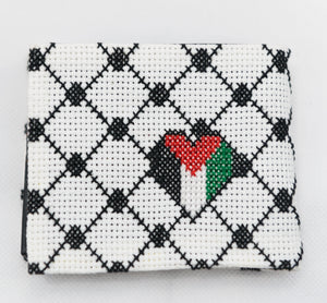 Palestinian Kufeyyeh embroidered Men wallet - Falastini Brand