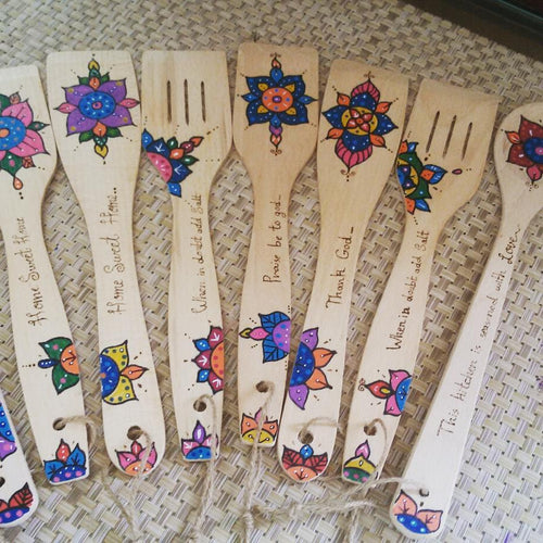 Mandala kitchen decorative spoons - Falastini Brand