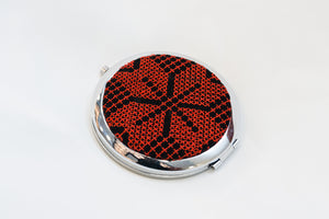 Mirror with red embroidery - Falastini Brand