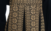 The Palestinian Asala dress - Black and golden Palestinian embroidered dress