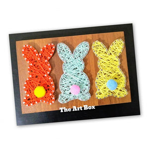 Handmade cute fluffy bunny string wall art - Falastini Brand