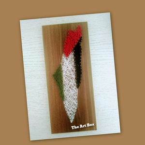 Handmade map of palestine string wall art - Falastini Brand