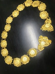 Golden belt inlaid with coins