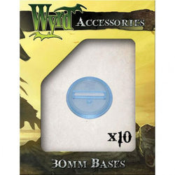 10 pack of Blue Translucent Bases 30mm Miniatures Wyrd Miniatures