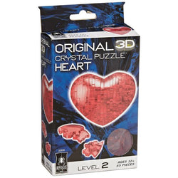 3D Crystal Puzzle: Heart (Red) Board Game University Games