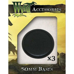 50mm Black Round Lipped Bases (3) Miniatures Wyrd Miniatures