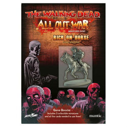Mantic Entertainment Ltd: Walking Dead Rick on Horse Booster Board Game Board Game Mantic Entertainment Ltd.