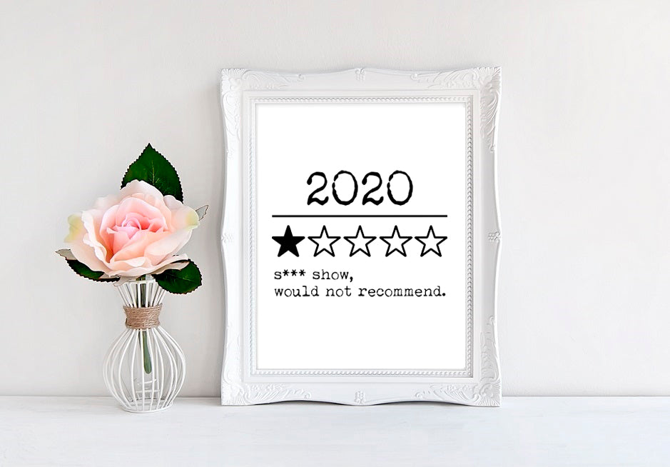 "2020 Review - 8""x10"" Wall Print - MoonlightMakers"