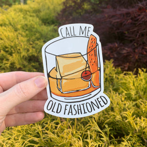 Call Me Old Fashioned - Die Cut Sticker - MoonlightMakers