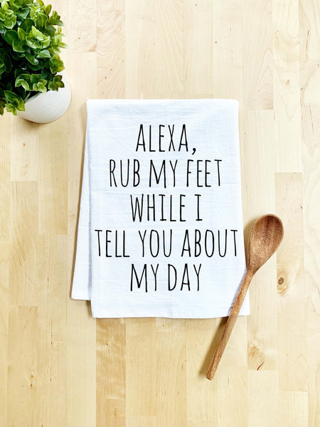 Alexa Rub My Feet Dish Towel - White Or Gray - MoonlightMakers