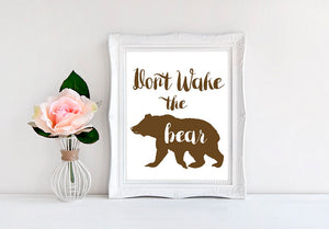 "Don't Wake The Bear - 8""x10"" Wall Print - MoonlightMakers"