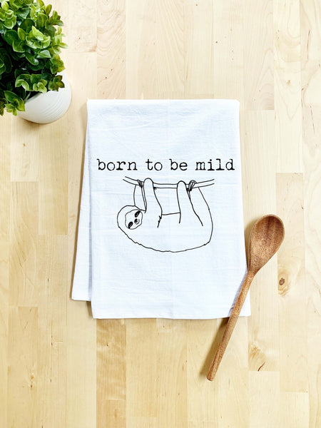 Born To Be Mild Dish Towel - White Or Gray - MoonlightMakers