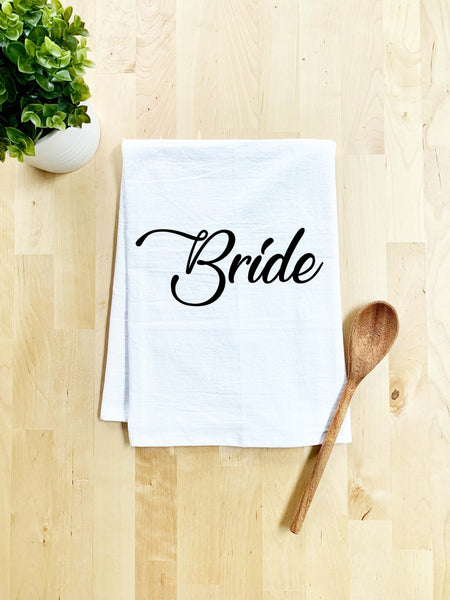 Bride Dish Towel - White Or Gray - MoonlightMakers