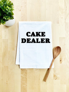 Cake Dealer Dish Towel - White Or Gray - MoonlightMakers
