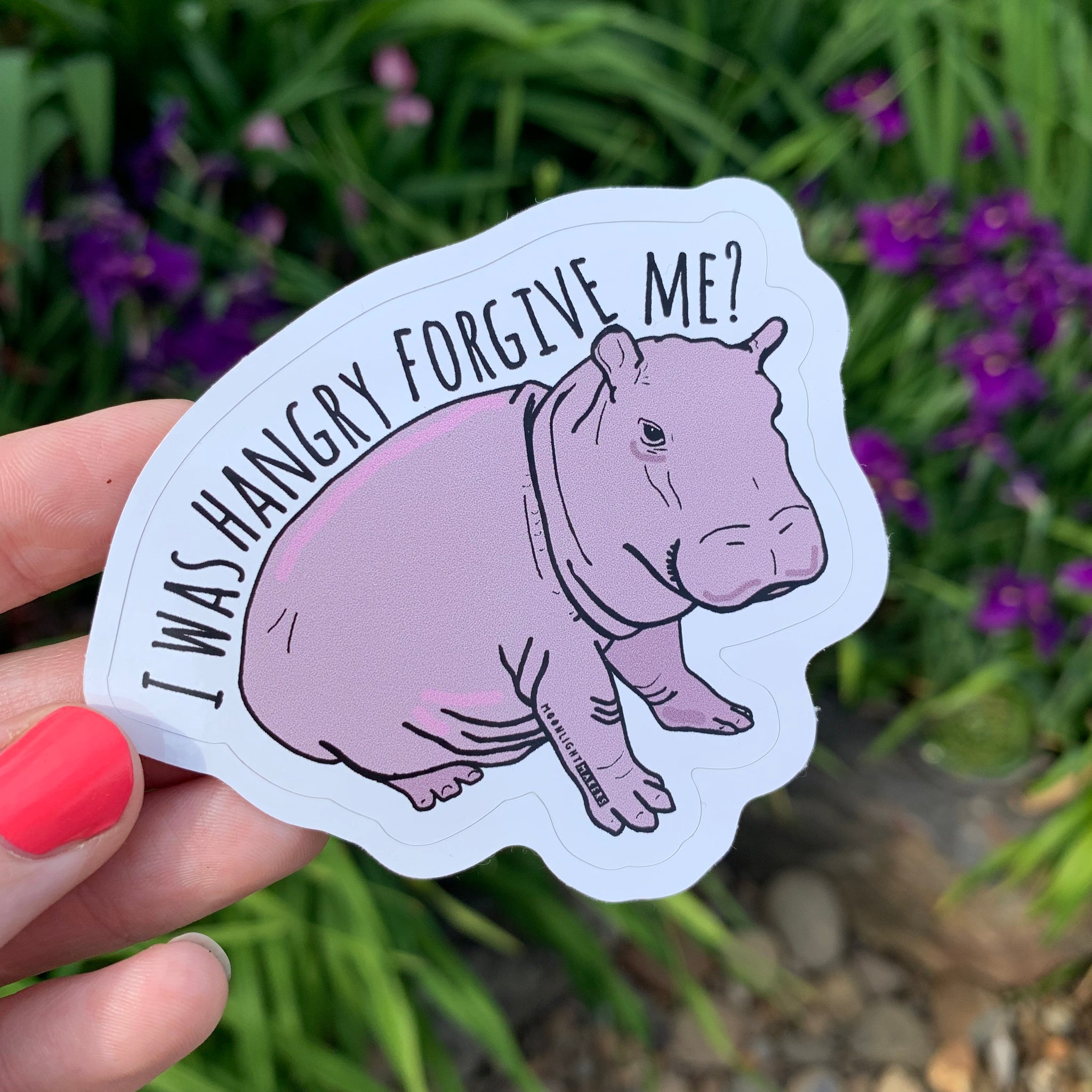 I Was Hangry Forgive Me? - Die Cut Sticker - MoonlightMakers