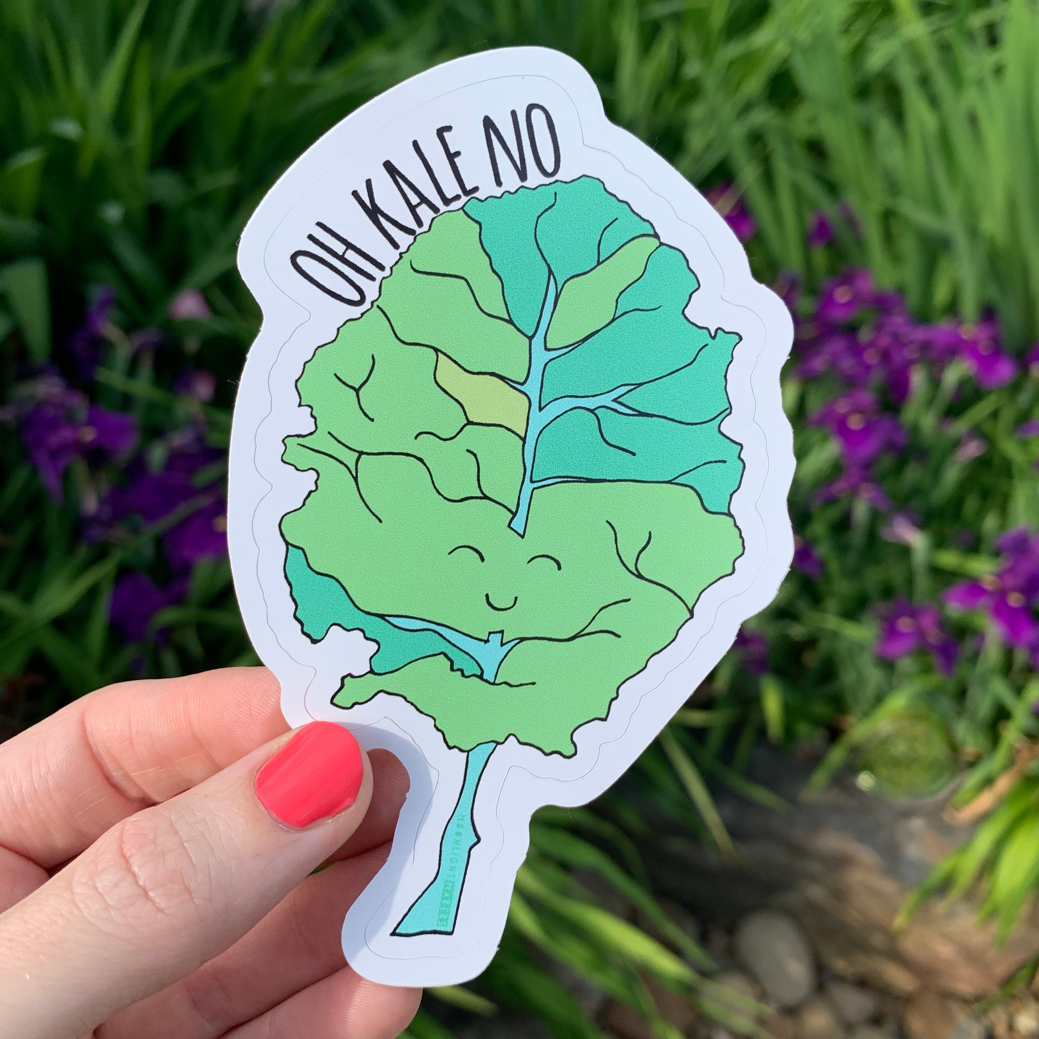 Oh Kale No - Die Cut Sticker - MoonlightMakers
