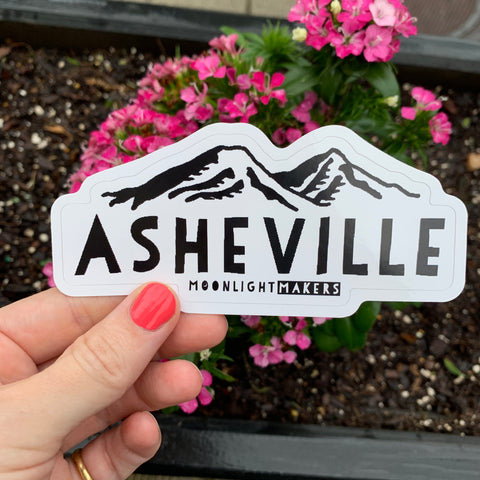 Asheville - Die Cut Sticker - MoonlightMakers