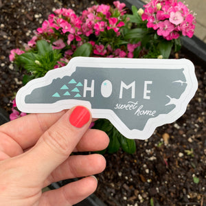 NC Home Sweet Home - Die Cut Sticker - MoonlightMakers