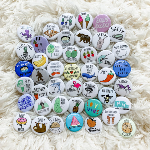 "Choose 5 1"" Pins - Mix and Match from selection - MoonlightMakers"