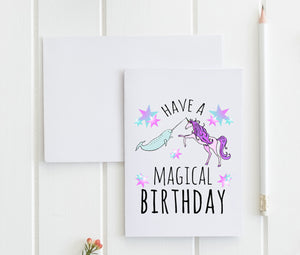 Have A Magical Birthday - Greeting Card - MoonlightMakers