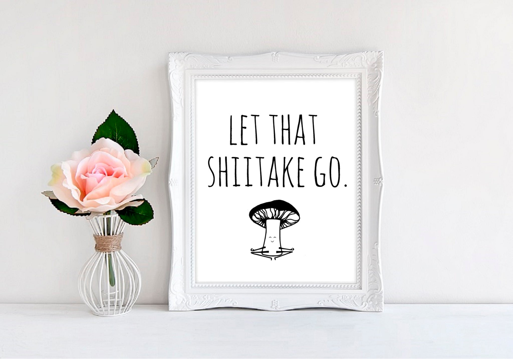 "Let That Shiitake Go - 8""x10"" Wall Print - MoonlightMakers"