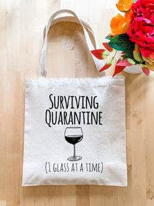 No Kid Hungry, Surviving Quarantine (1 Glass At A Time) - Tote Bag - MoonlightMakers