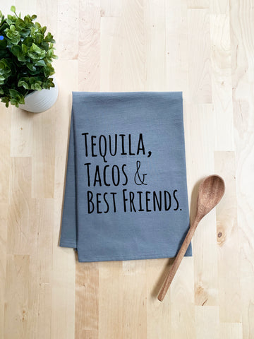 Tequila, Tacos & Best Friends Dish Towel - White Or Gray - MoonlightMakers