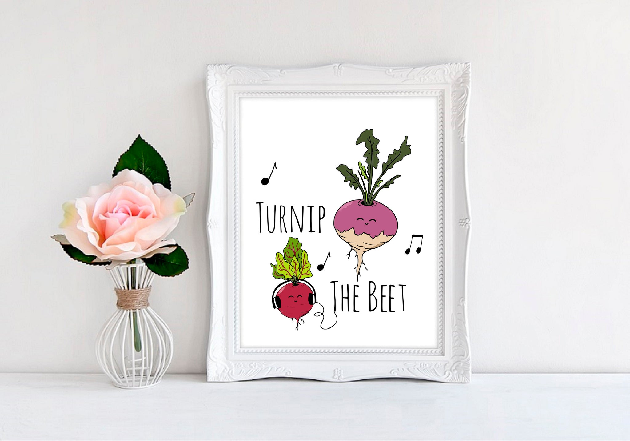 "Turnip The Beet - 8""x10"" Wall Print - MoonlightMakers"
