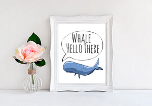 "Whale Hello There - 8""x10"" Wall Print - MoonlightMakers"