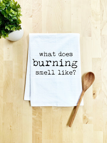 What Does Burning Smell Like Dish Towel - White Or Gray - MoonlightMakers