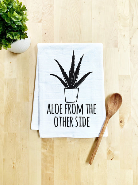 Aloe From The Other Side Dish Towel - White Or Gray - MoonlightMakers