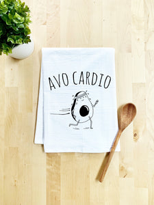 Avo Cardio Dish Towel - White Or Gray - MoonlightMakers