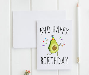 Avo Happy Birthday - Greeting Card - MoonlightMakers