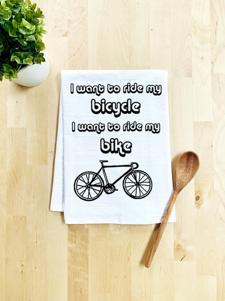 I Want To Ride My Bicycle/ Bike/ Queen - White Or Gray - MoonlightMakers
