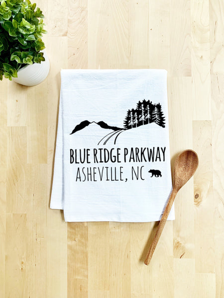 Blue Ridge Parkway Dish Towel - White Or Gray - MoonlightMakers