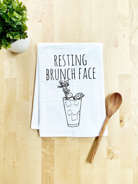 Resting Brunch Face Dish Towel - White Or Gray