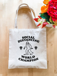 No Kid Hungry, Social Distancing World Champion - Tote Bag - MoonlightMakers
